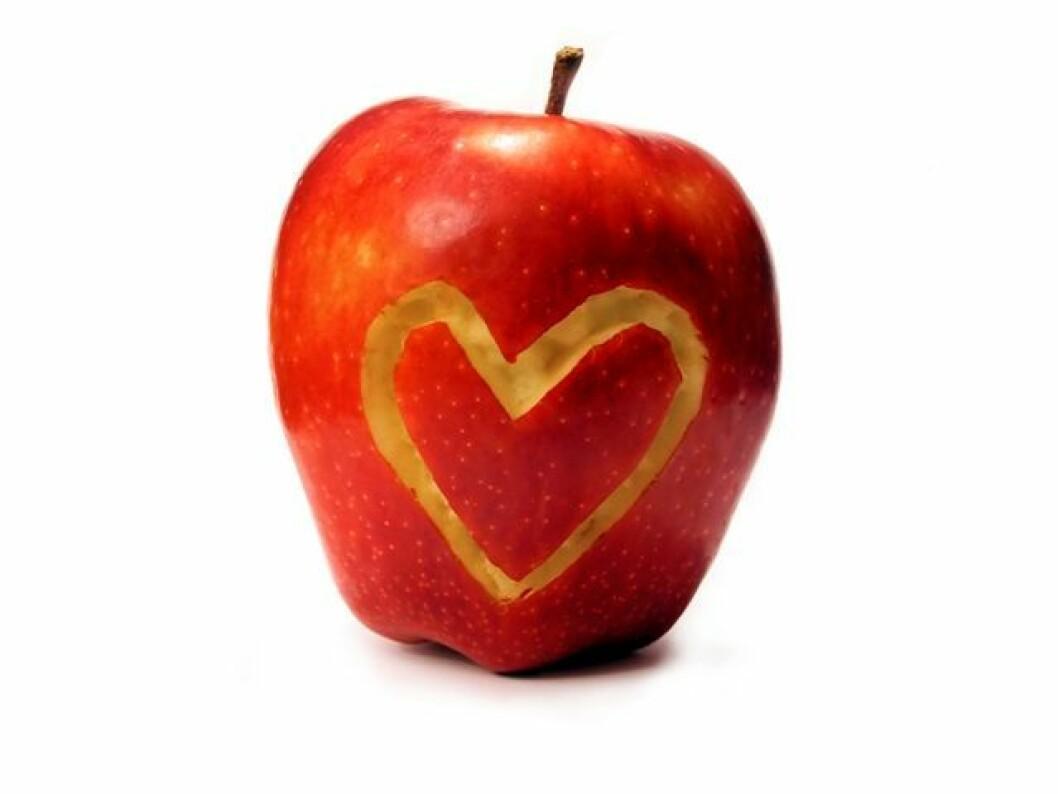 eple og hjerte