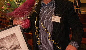 Gunnar Kvamme - rørt vinner av Matomsorgsprisen 2009