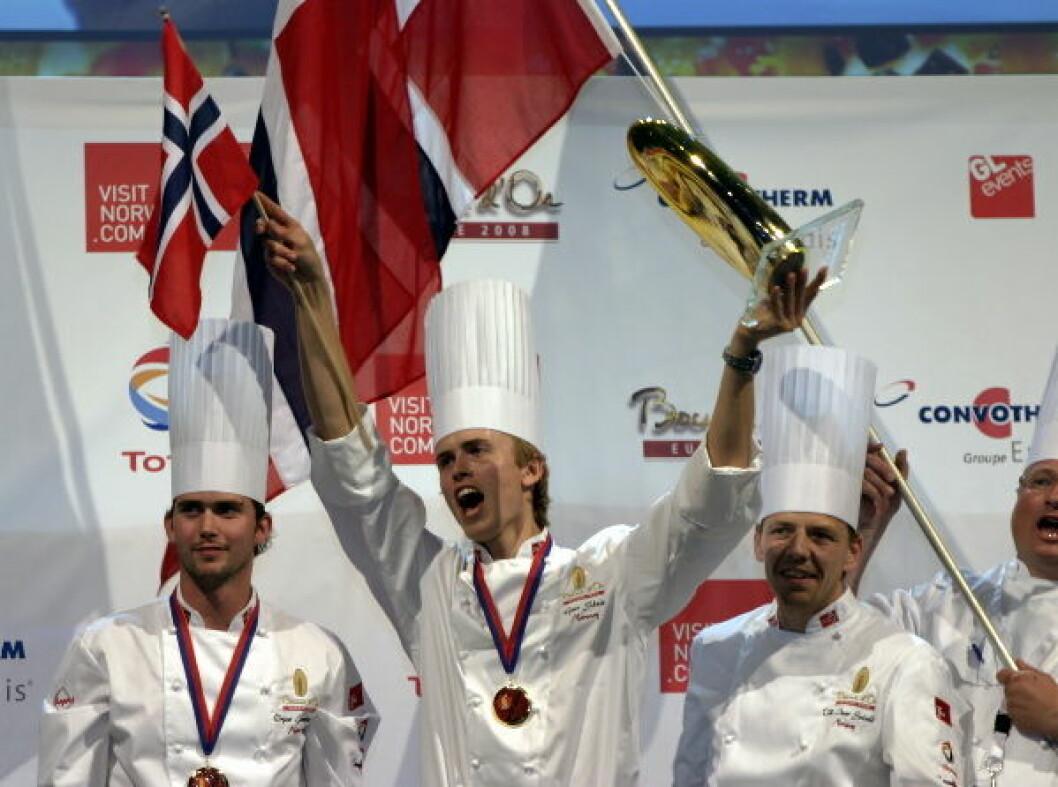 Geir Skeie cant Bocuse d'Or Europe i 2008 (bildet) og Bocuse d'Or i 2009. (Foto: Morten Holt)