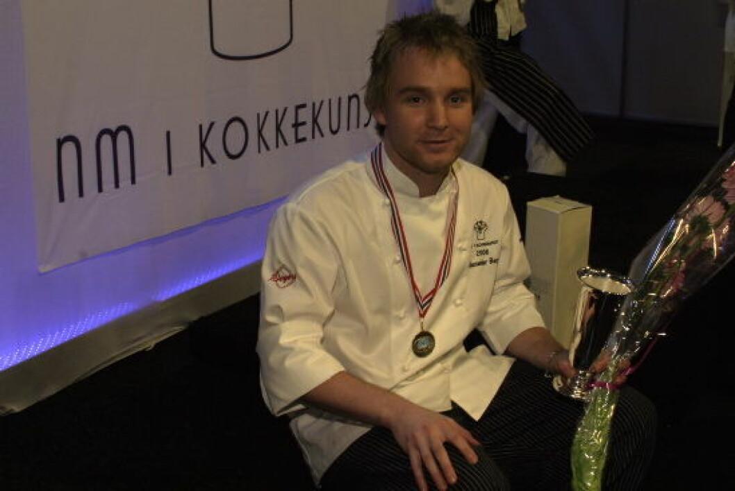 Alexander Østli Berg vant NM i kokkekunst 2008. (Foto: Morten Holt)
