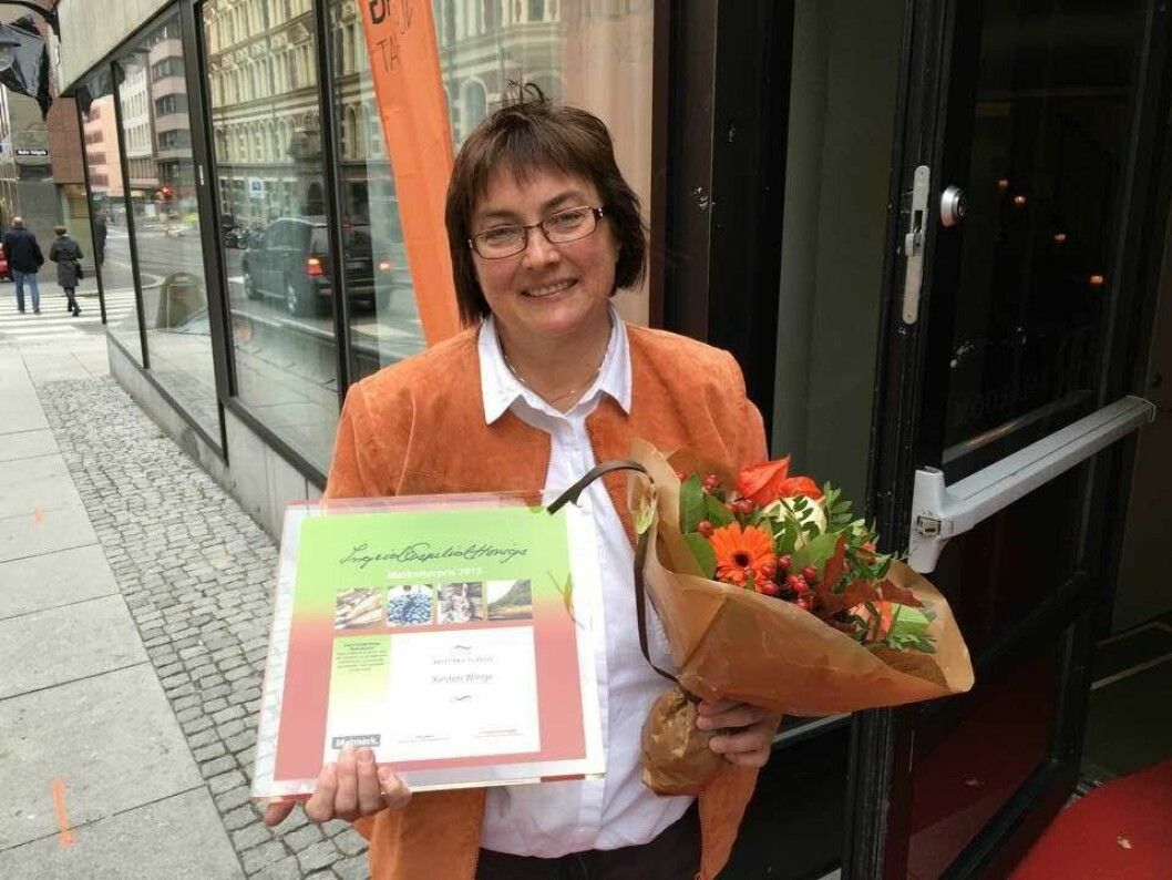 Kirsten Winge Ingrid Espelids Matkulturpris 2015