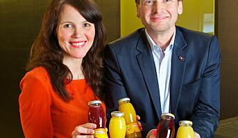 Små juiceflasker for hotellene