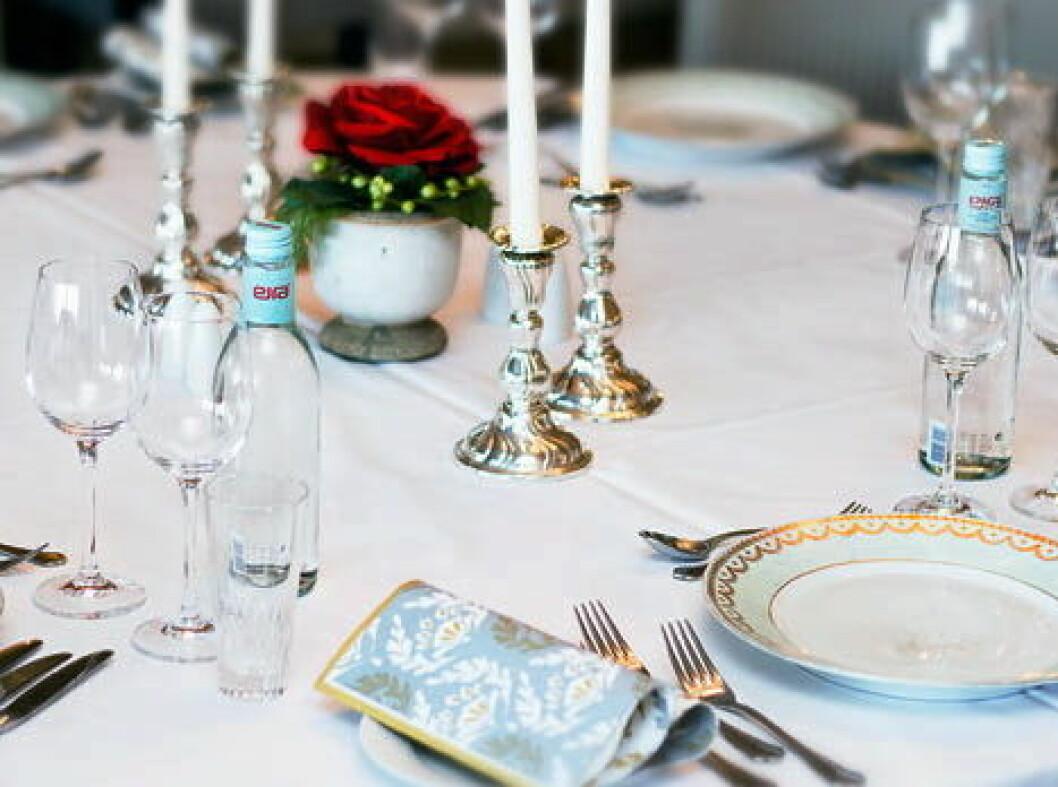Eirawater restaurantbord