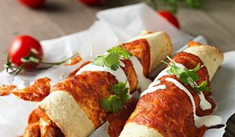 Enchiladas til texmex-buffeen