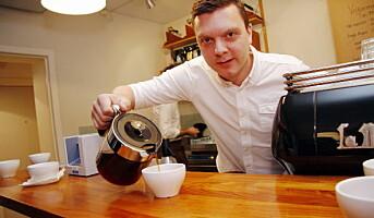 Brenner for den svarte kaffen