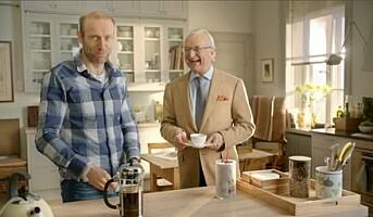Hjelmeseth og Friele i reklamefilm