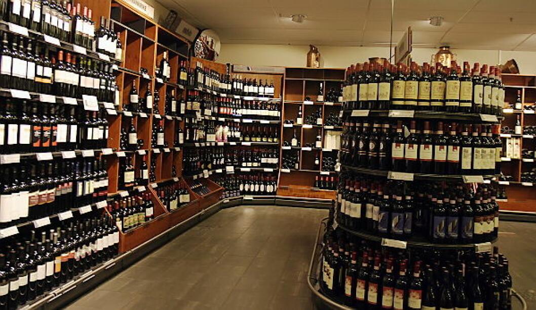 Vinmonopolet illustrasjonsfoto