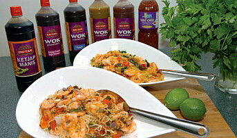 Ferdige scampiretter med autentisk asiatisk smak
