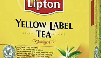 Lipton lanserer sertifisert te