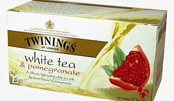 Ny hvit Twinings-te med granateple