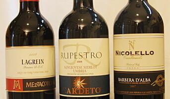 Tre italienske viner fra Solera