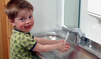 Unngå kontaktsmitte med sikker håndvask