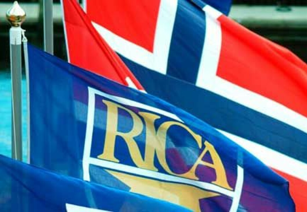 Rica norsk flagg