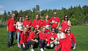 Scandic-ansatte inntok Fornebu-landet
