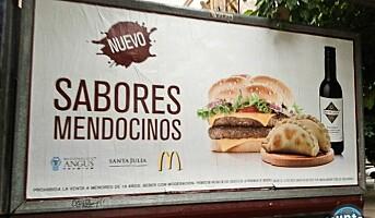 Vin på McDonald`s-menyen