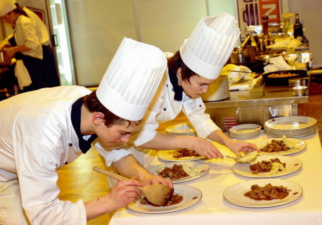 Illustrasjon unge kokker