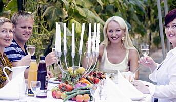 Festmåltid i gartneriet