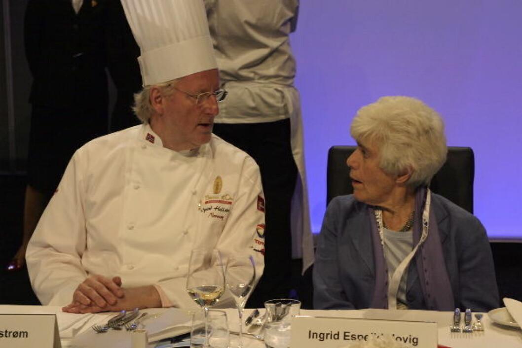 Eyvind Hellstrøm og Ingrid E Hovig