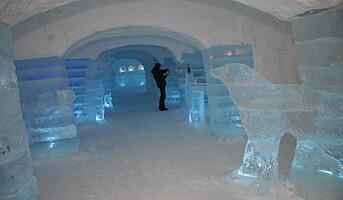 Et spektakulært hotell av snø og is