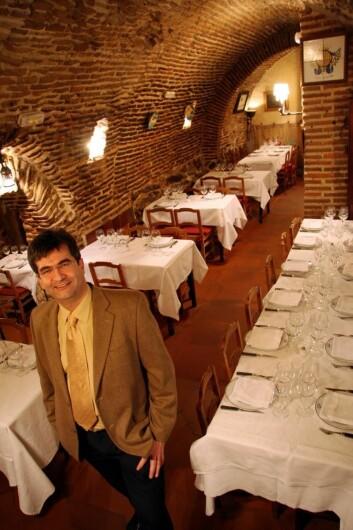 Carlos Gonzalez i El Botin, verdens eldste restaurant. (Foto: Morten Holt)
