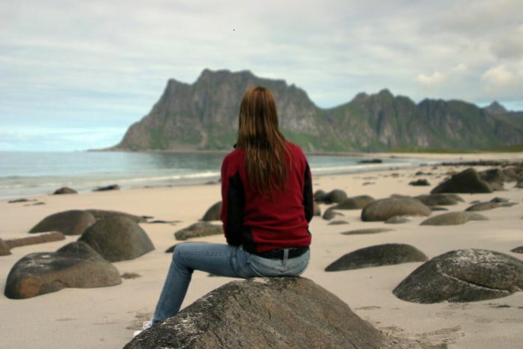 Ferie illustrasjon strand Lofoten2