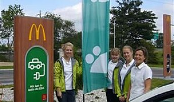 McDonalds 222. restaurant i Sverige et miljøforbilde