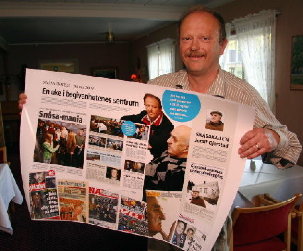 Lars Sandvik avisutklipp Snåsa Hotell