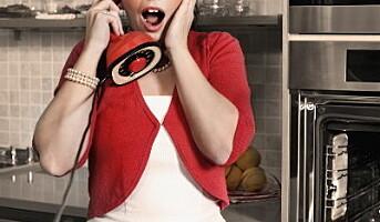 Folk bruker ribbetelefonen julaften