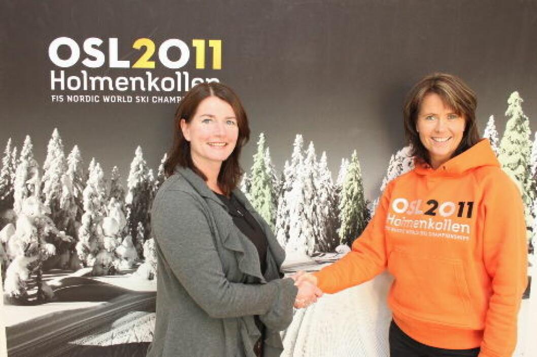 Ski VM2 Hilde Ødeli Sletten og Åsne Havnelid