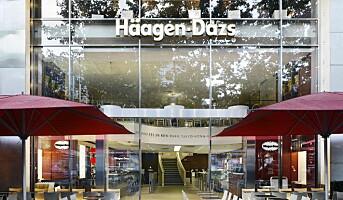 Ny Häagen-Dazs-kafé i Oslo i 2010