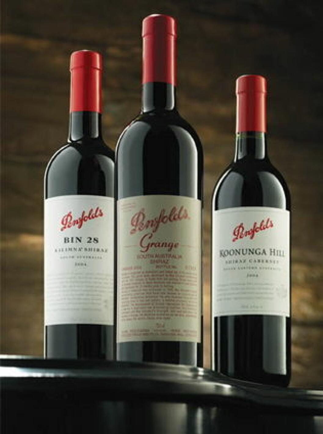 Penfolds L I wines grange