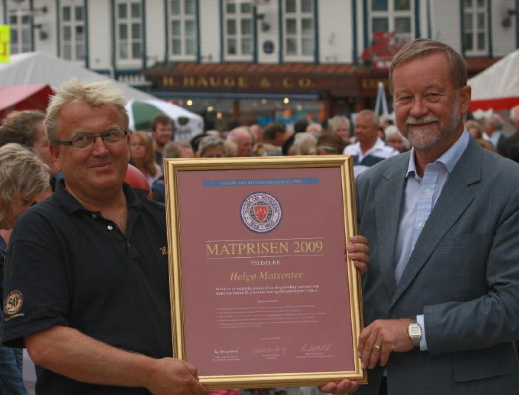Helgø Matsenter Matprisen 2009