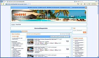 Et nettsted for å finne reise- og feriemuligheter