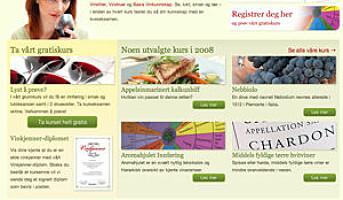 Ny nettside om vin