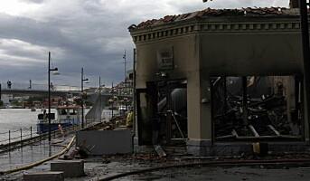 Populær restaurant brant ned