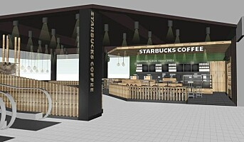 Starbucks på plass på Sandvika Storsenter