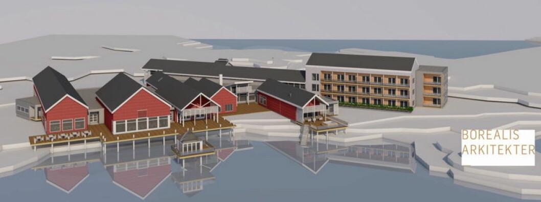 """Slik blir """"nye"""" Sommarøy Arctic Hotel."""