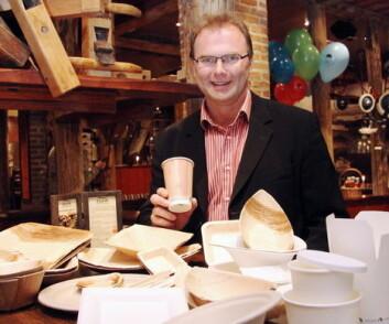 Jan-Erik Pavels Smith, direktør i Greenway-Norge, med noen av produktene bedriften tilbyr. (Foto: Morten Holt)