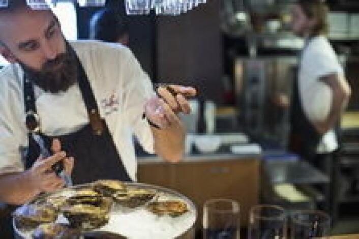 Johan Malm på Restaurant Gabriel i aksjon. (Foto: Tina Stafren)