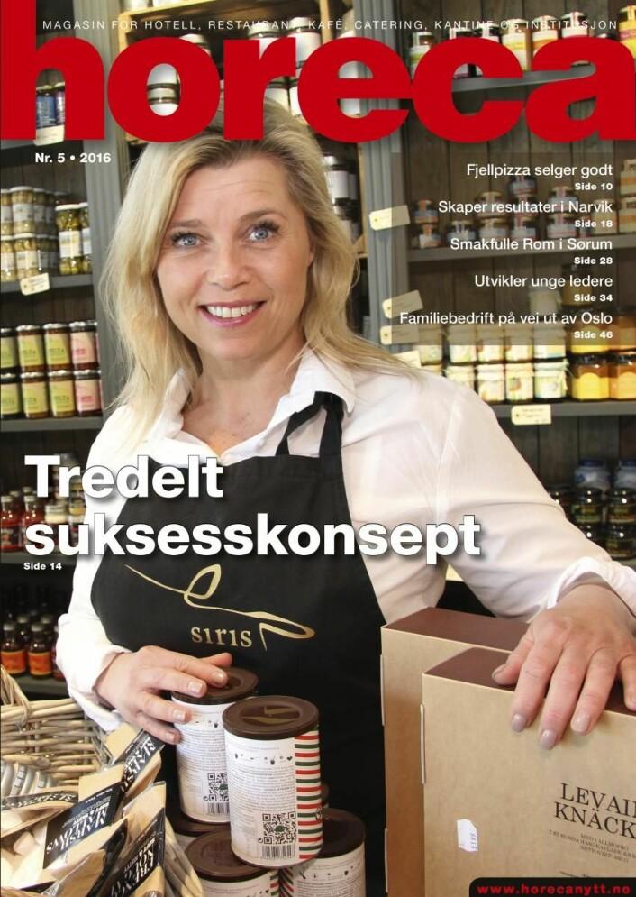 Omslaget på Horeca nummer 5 2016. (Foto: Morten Holt/Layout: Tove Sissel Larsgård)