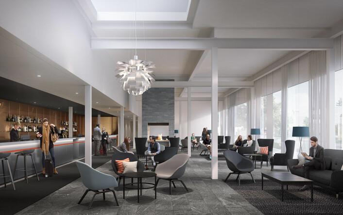 Interiøret på First Hotel Arlanda, som åpner til høsten.