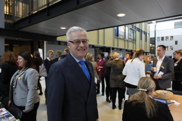 Lasse Tenden fra NHO Service deltok på Bransjedagen 2015. (Foto Trond Erik Hillestad)