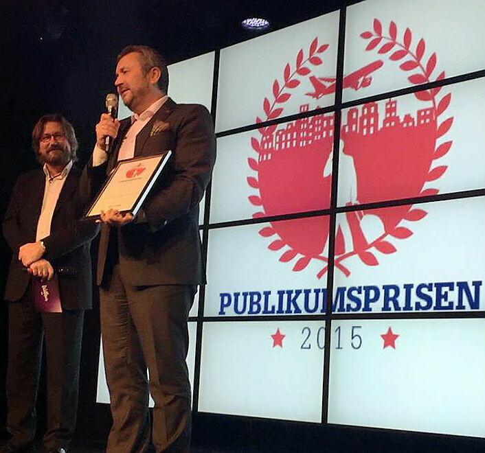 Svein Arild Mevold tok imot prisen torsdag kveld. (Foto: Scandic Hotels)
