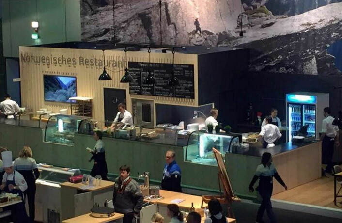 Fursetgruppen har ansvaret for den norske restauranten på Grüne Woche. (Foto: Fursetgruppen)