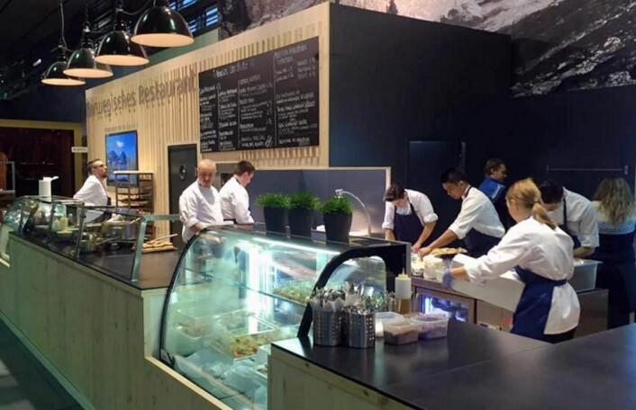 For sjette året på rad har Fursetgruppen ansvaret for den norske restauranten på Grüne Woche. (Foto: Fursetgruppen)