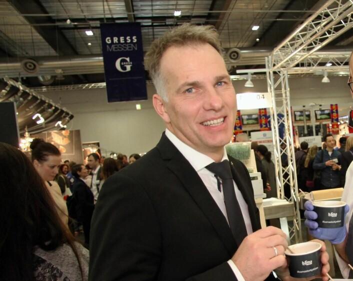 – GRESS har blitt årets høydepunkt for mange,sier innkjøpsansvarlig for Carlson Rezidor i Norge, Olaf Gerkens. (Foto: Morten Holt)
