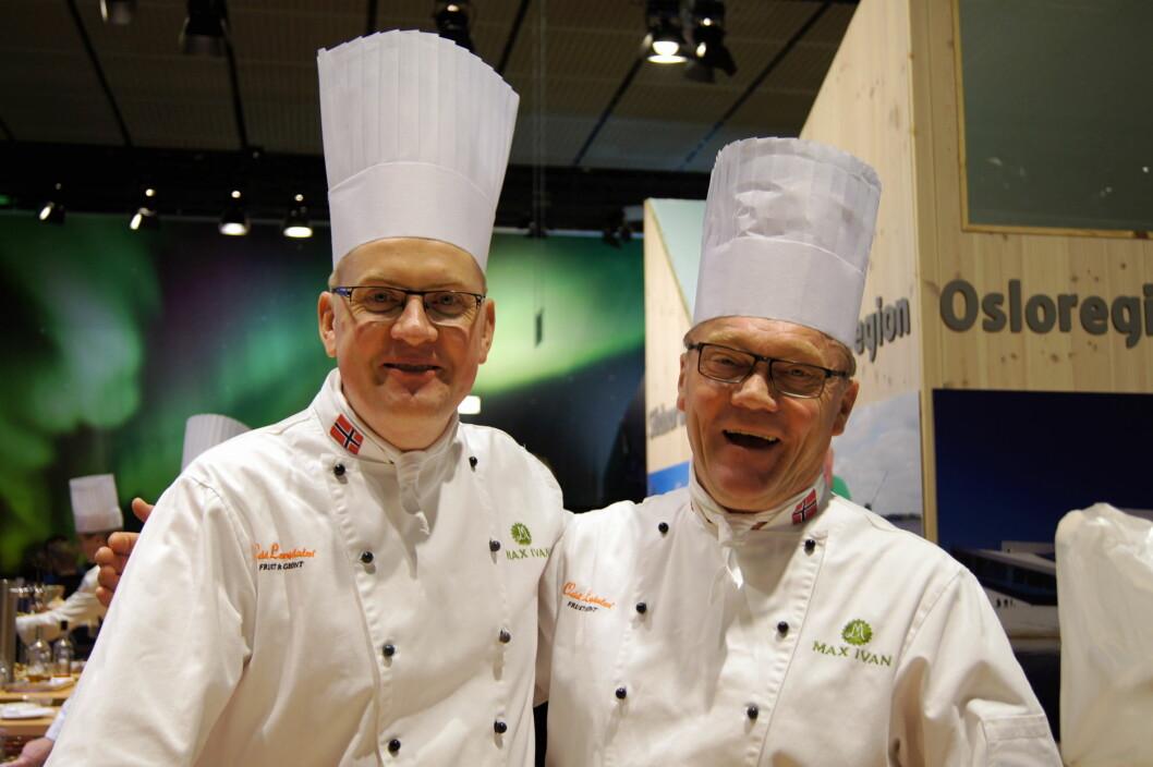Øystein Bjerke og Max Ivan Lindkjølen fra Max Ivan i Eidskog. Maxine Lindkjølen har også vært med fra Hedmark-bedriften, men hadde reist hjem da bildet ble tatt.