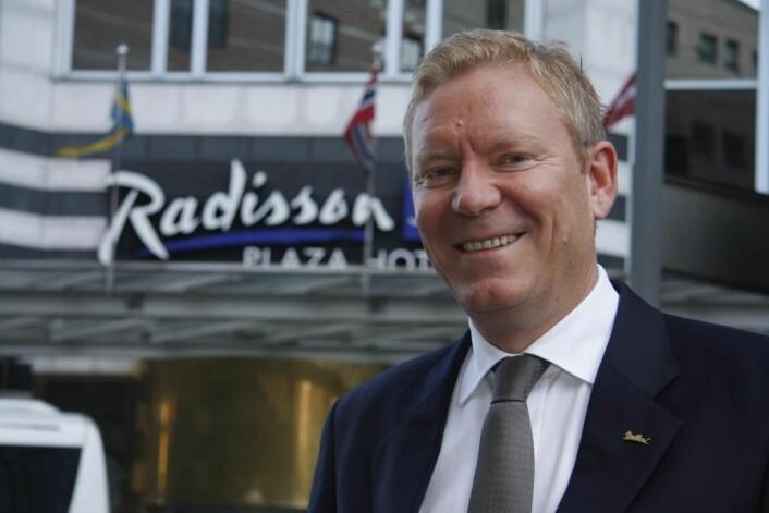 Tarje Hellebust, District Director i Rezidor Hotel Group. (Foto: Morten Holt)
