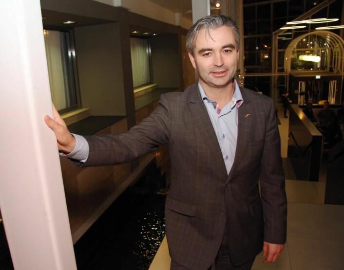Rune Nordstokke er hotelldirektør på Radisson Blu Royal Garden Hotel i Trondheim. (Foto: Morten Holt)