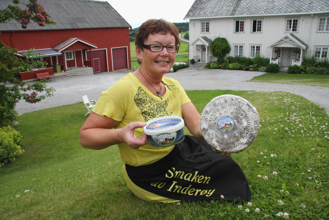 Astrid Aasen på Gangstad Gårdsysteri. (Arkivfoto: Morten Holt)